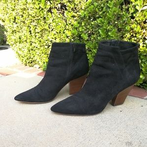 🍎11 Saks Fifth Ave point toe ankle boot heel slim